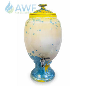 Peter Wallace Pottery Ceramic Water Filter Yellow