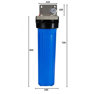 Big Blue Whole House 20 inch Single Water Filter Dimensions
