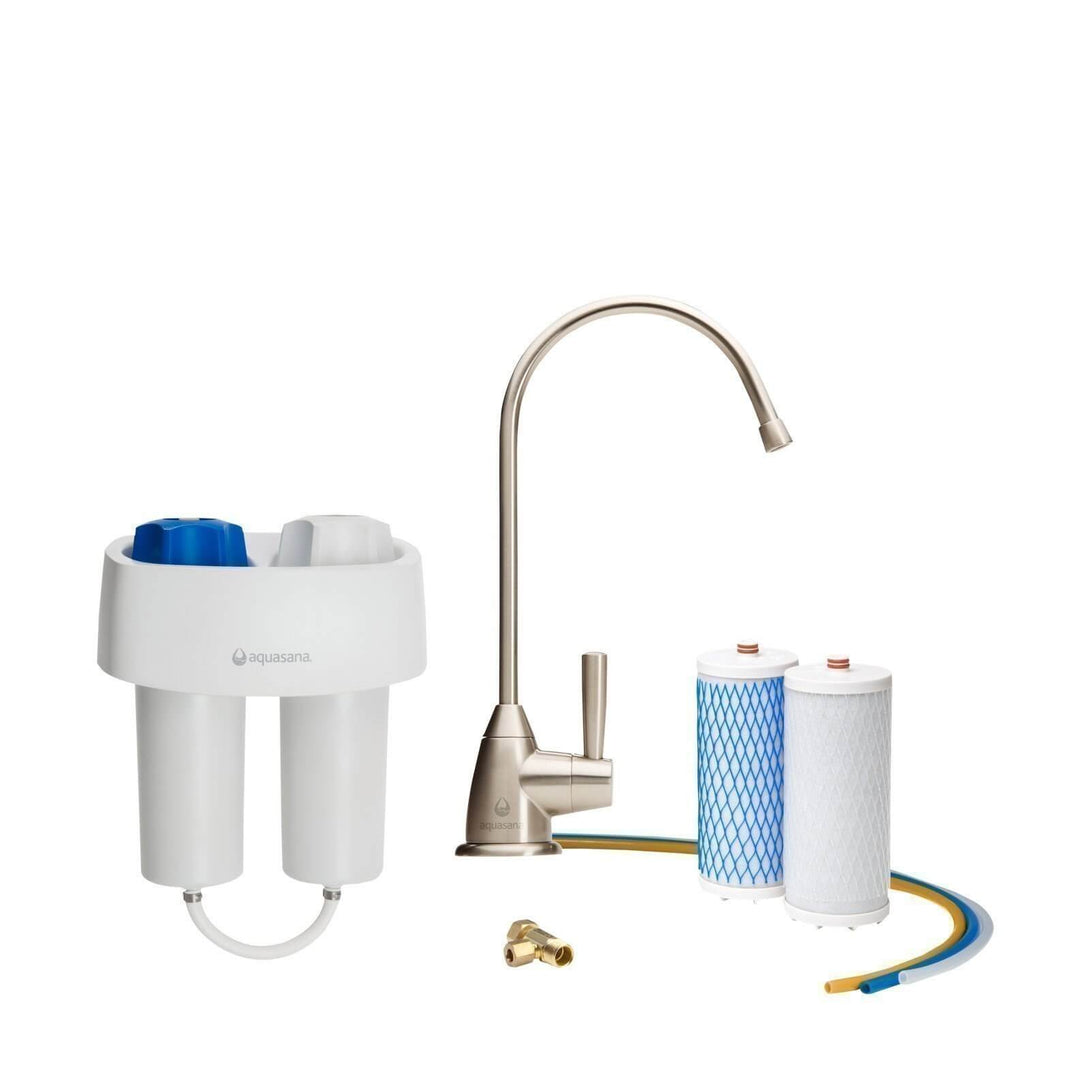 Aquasana Under Counter Water Filter Premium - Brushed Nickel