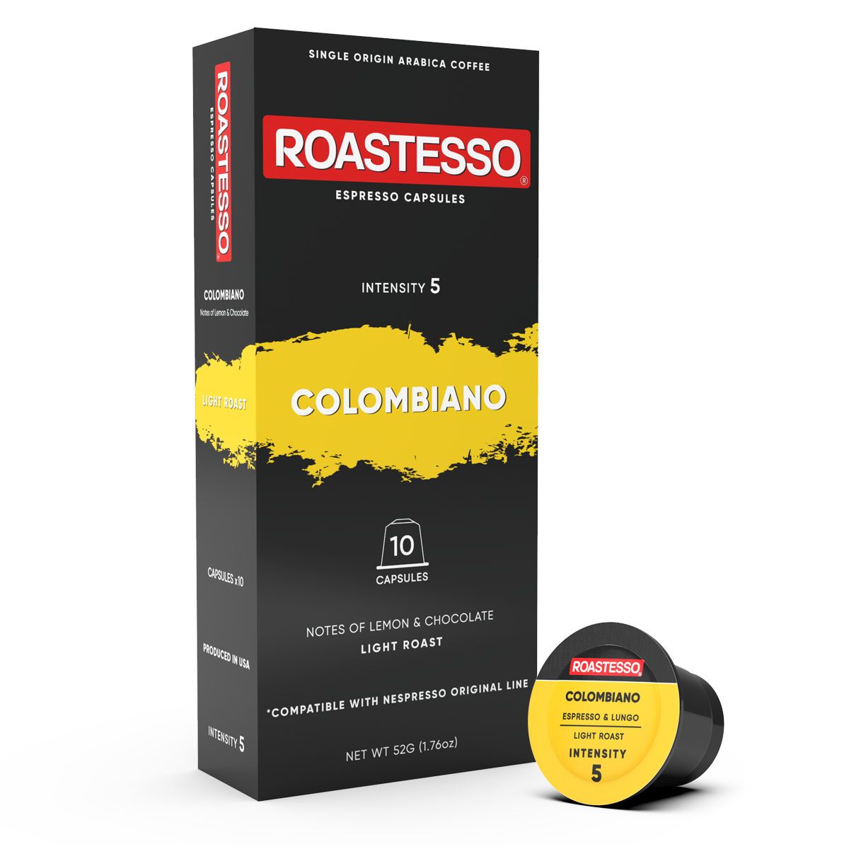 articles/Colombiano-10-Nespresso-Compatible-Coffee-Capsules-Front-Box-Roastesso.png