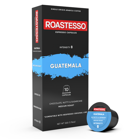 Lungo Guatemala Origin - Nespresso Compatible Coffee Capsules for OriginalLine espresso machines