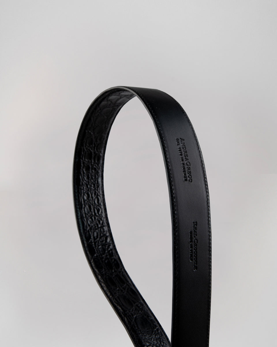Belt | Crocodile | Black