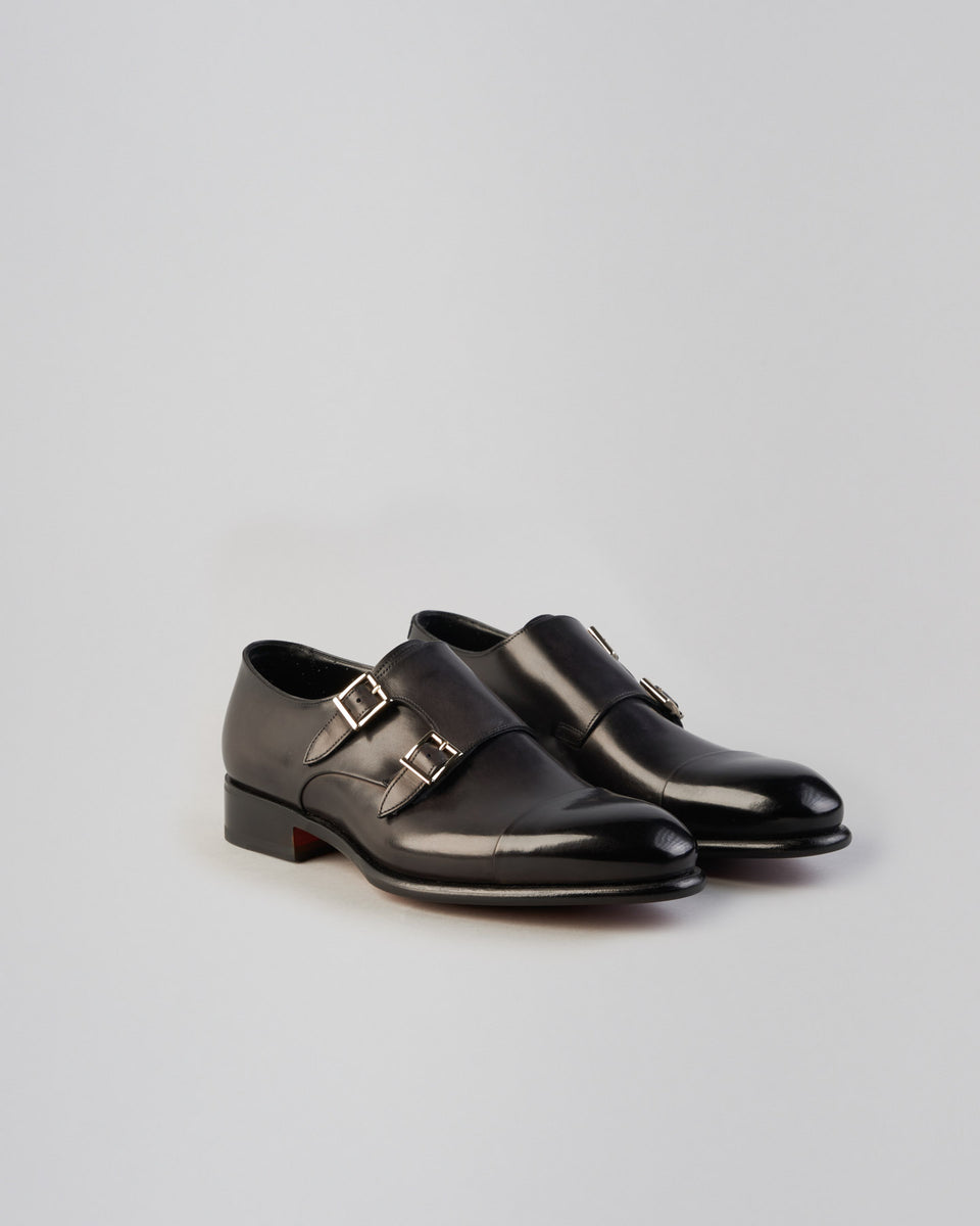 Monk | Double Buckle | Anthracite