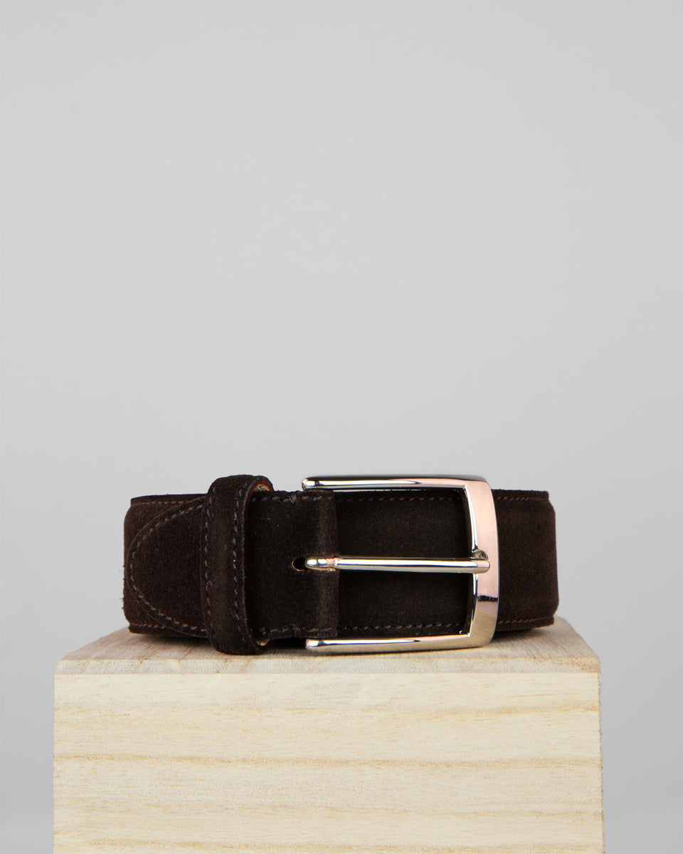 Suede Belt | Bitter Chocolate