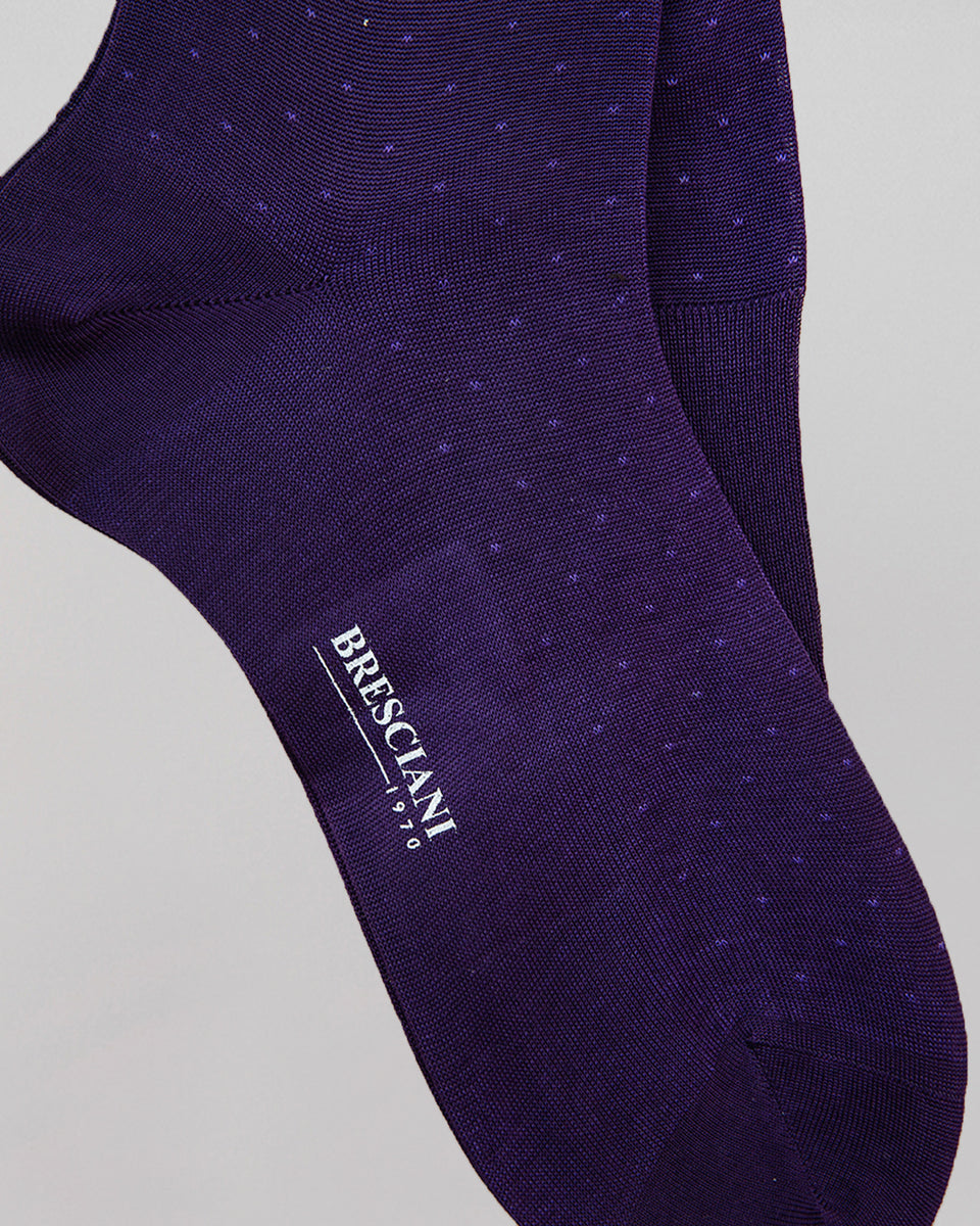 Knee-high Sock | Polka Dot Purple/Mouve