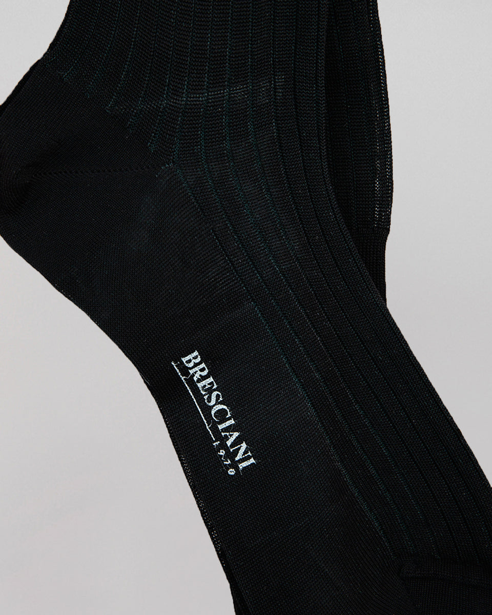 Knee-high Sock | Long Stripe Black/Asfalto