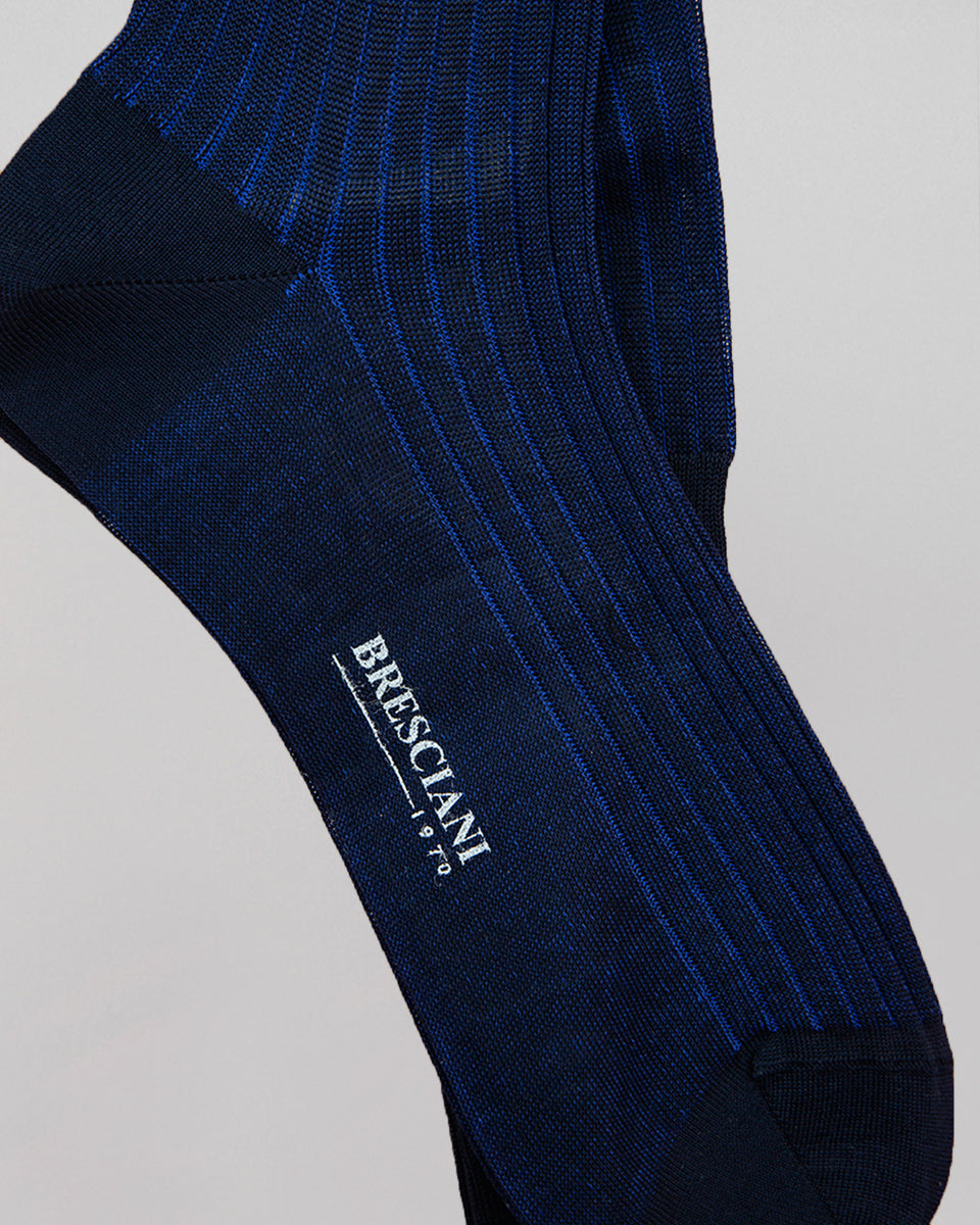 Knee-high Sock | Long Stripe China/Blue