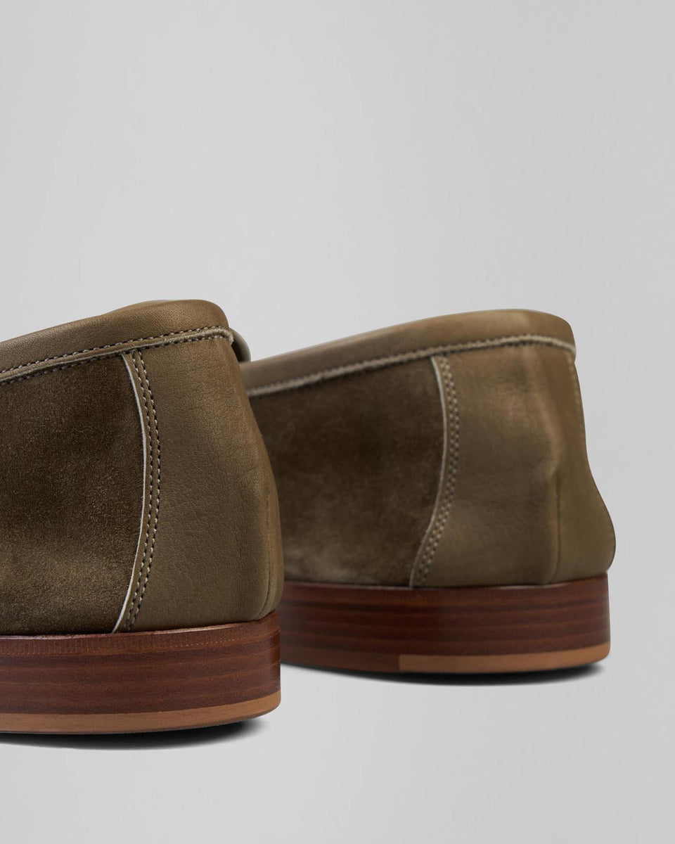 Polperro | Unlined | Suede | Army Green