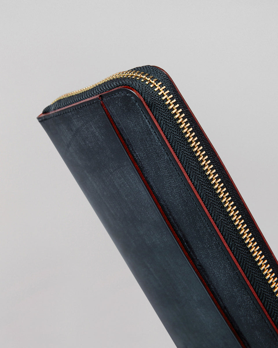 Long Wallet Round Zip | Black