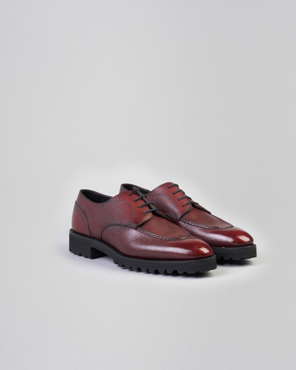 U-tip Derby Simple | Burgundy