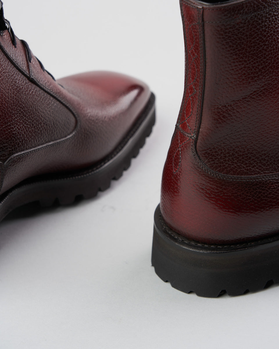 Balmoral Simple Boot | Grain | Rosewood