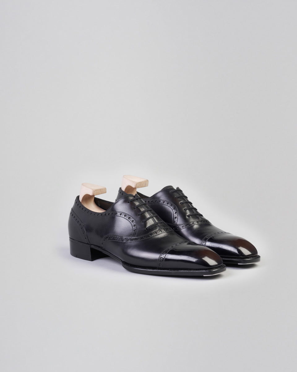 1202 Heritage Collection | Oxford Cap Toe Full Brogue | Black