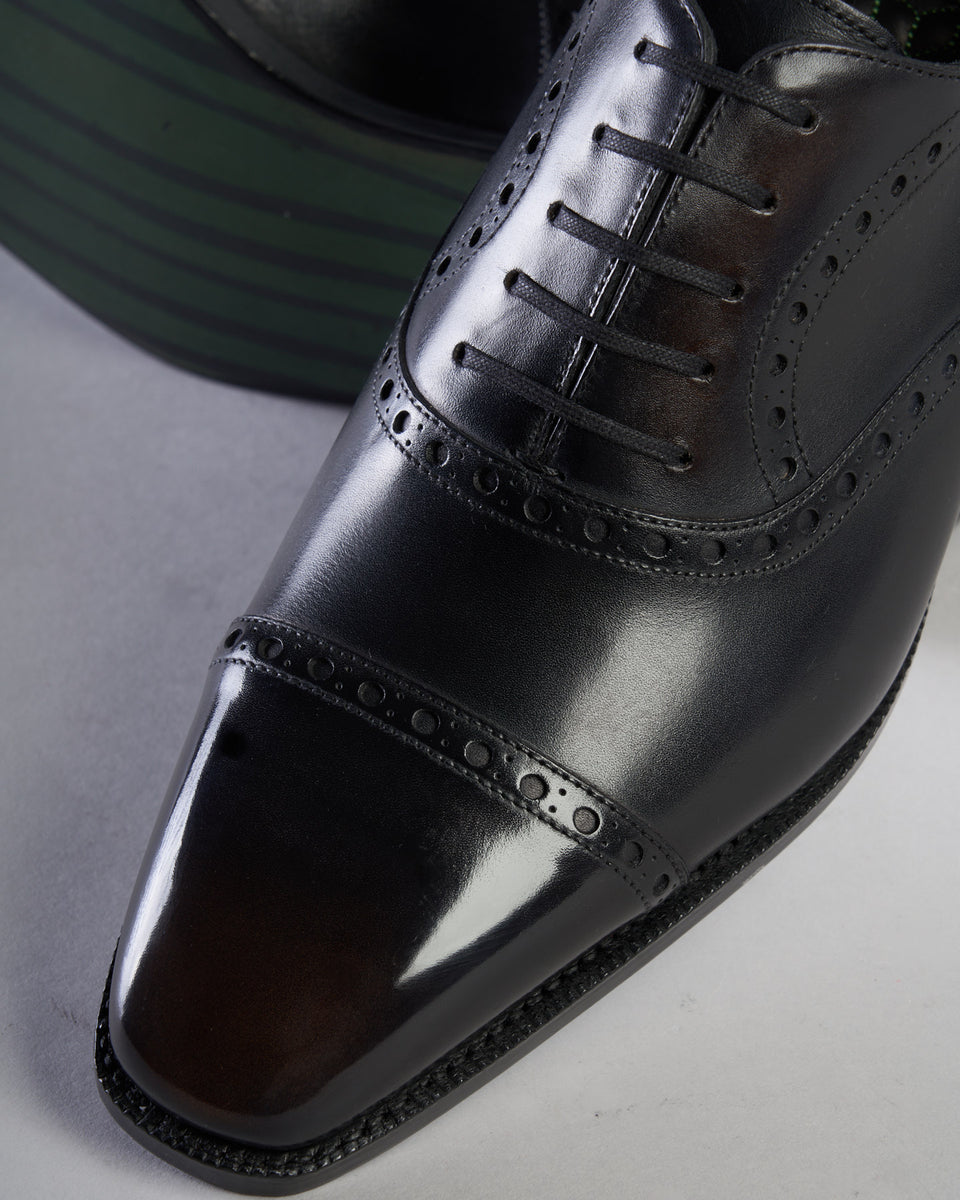 Oxford Cap Toe Full Brogue | Black