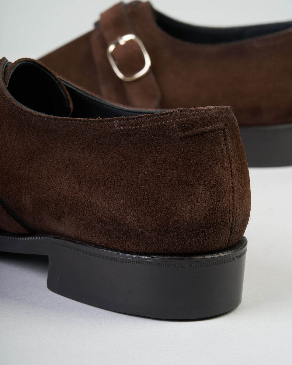 Single Buckle | Suede | Dark Brown