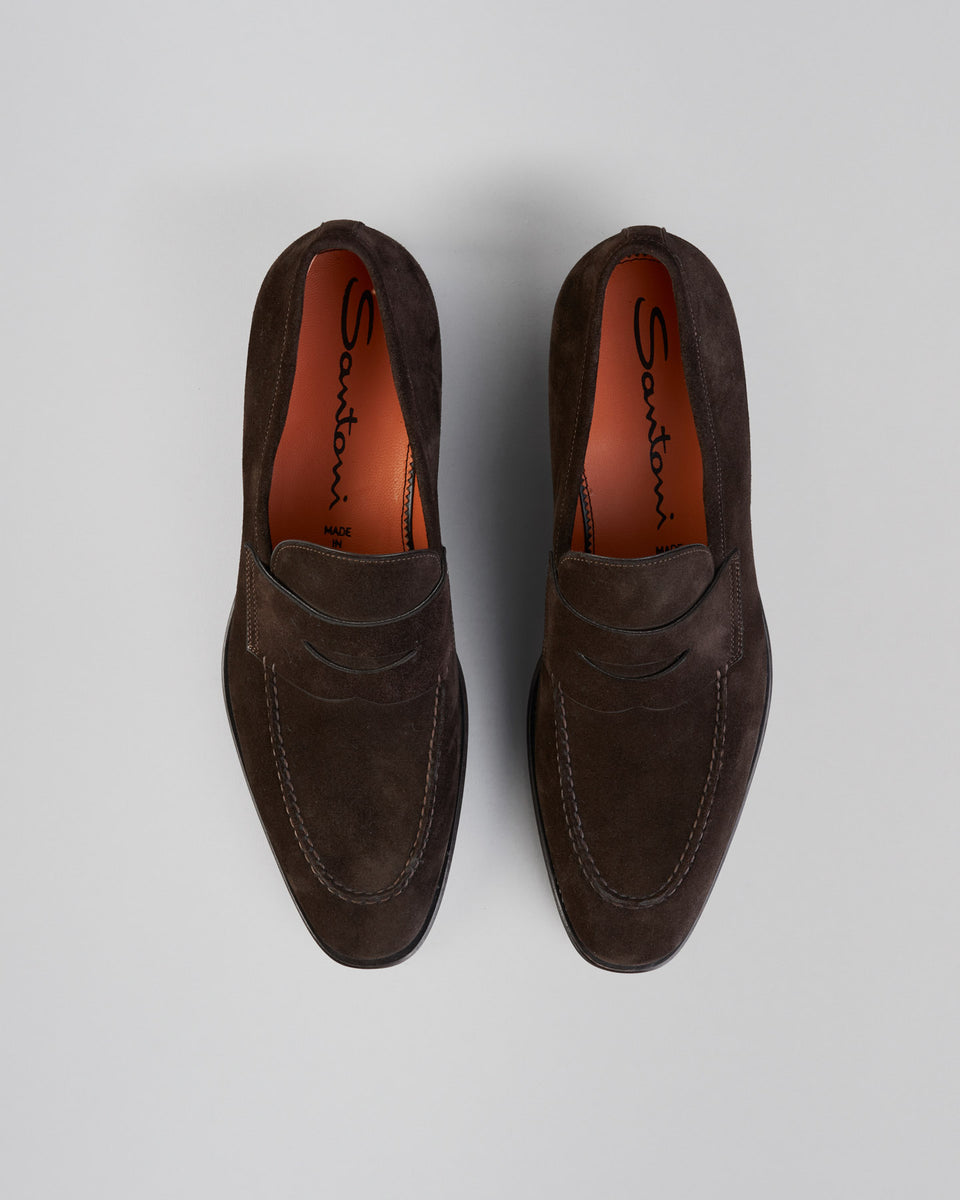 Penny Loafer | Suede | Brown