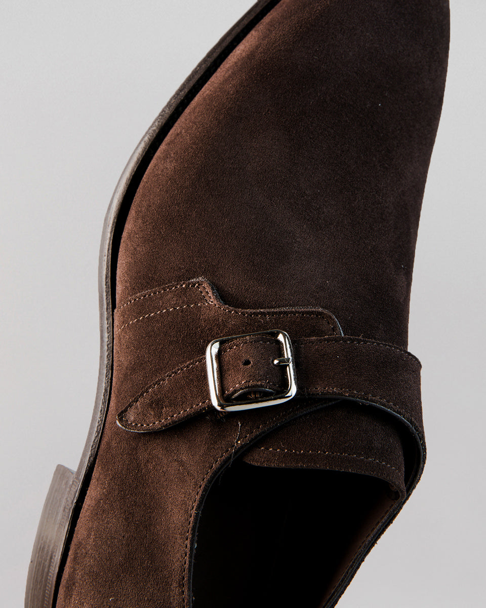 Single Buckle | Suede | Bitter Chocolate