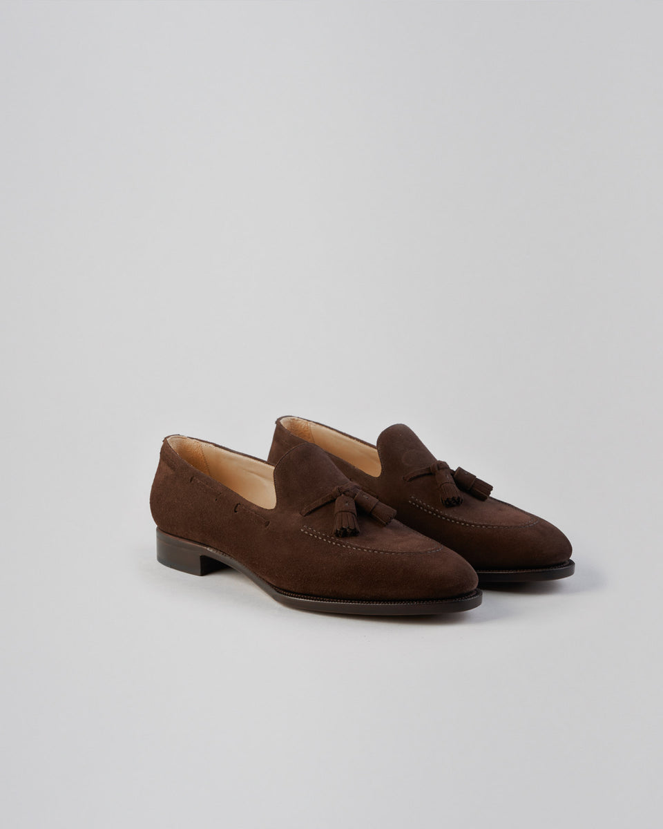 Tassel Loafer | Suede | Dark Brown