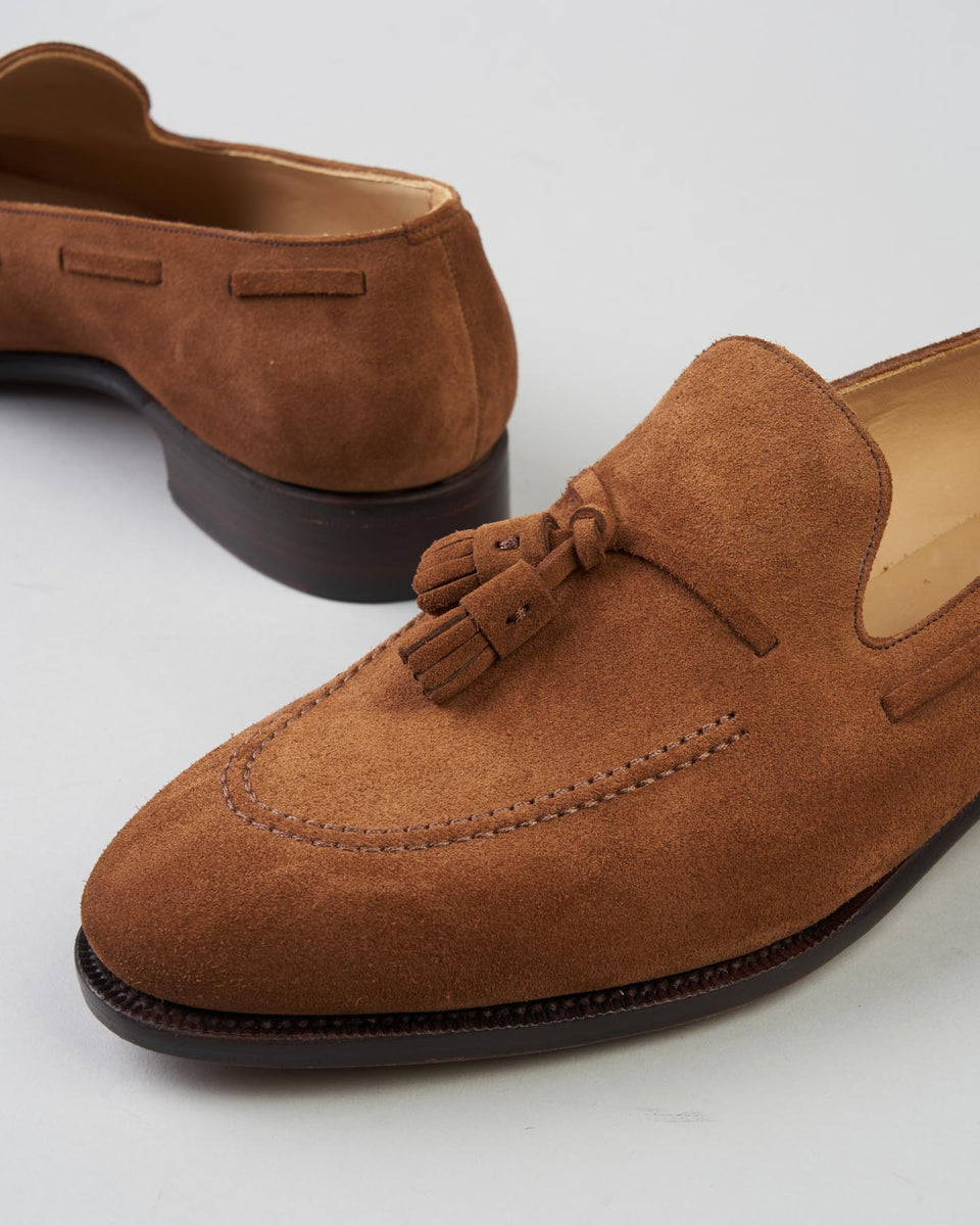 Tassel Loafer | Suede | Light Brown