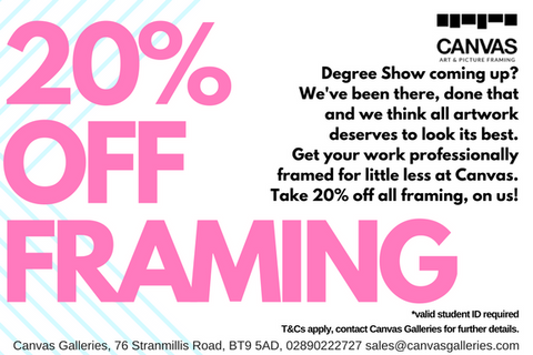 20% off student framing