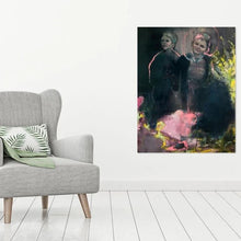 Load image into Gallery viewer, original painting on canvas by Alana Barton titled Boys In Black