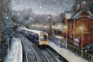 Limited Edition Print 'Cultra Station in the Snow'