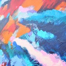 Load image into Gallery viewer, Esther O'kelly original on canvas Cold Mountain. a colourful abstract irish landscape.