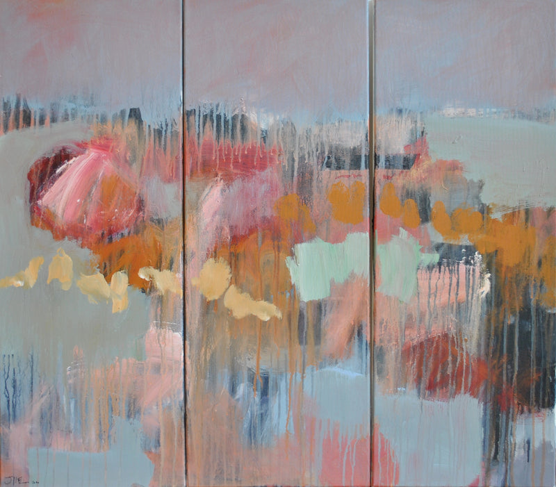 Jonny McEwen original contemporary painting on canvas untitled abstract triptych