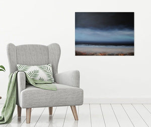 Laura Bryson original painting beyond dark seascape on canvas
