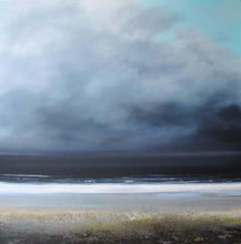 Load image into Gallery viewer, Laura Bryson original painting February storm dark seascape on canvas