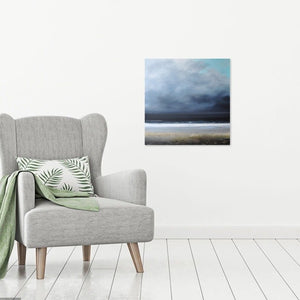 Laura Bryson original painting February storm dark seascape on canvas