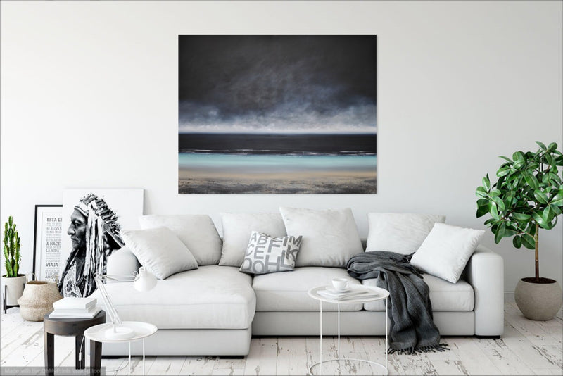 Laura Bryson original painting The Deepening Sky acrylic on canvas seascape