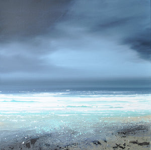 Laura Bryson original painting Winter waves dark seascape on canvas