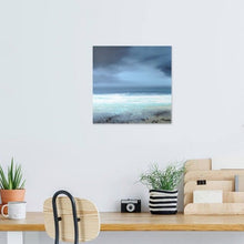 Load image into Gallery viewer, Laura Bryson original painting Winter waves dark seascape on canvas