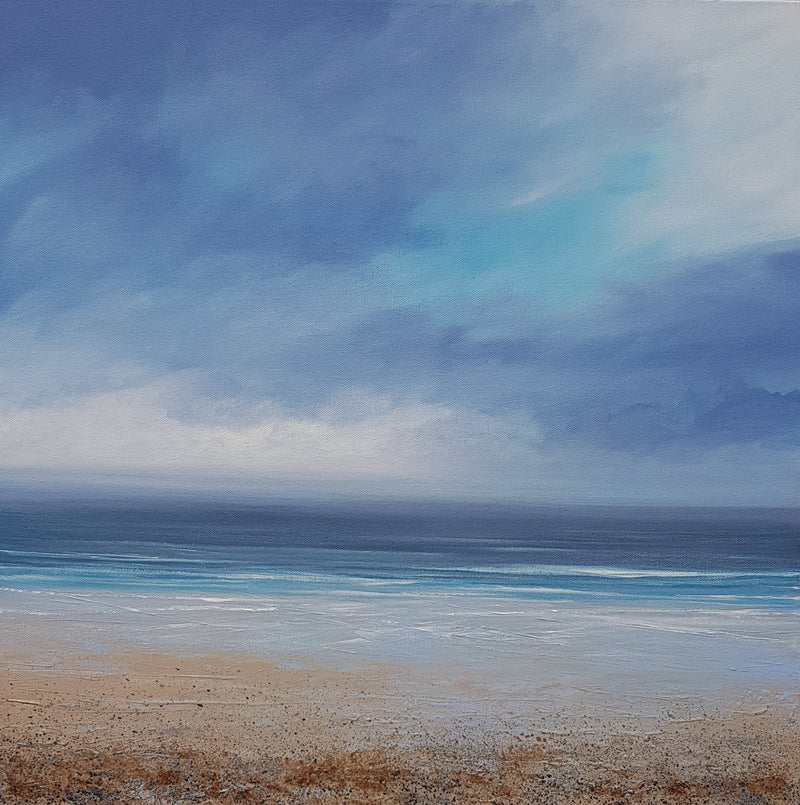 original seascape painting on canvas by Laura Bryson titled Clearing Skies