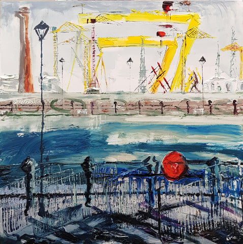 Limited Edition Print 'Oil Rig in the Docks'