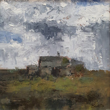 Load image into Gallery viewer, Mark Bonello original on board Old Bothy. An oil on board painting of a cottage in the country side