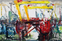 Load image into Gallery viewer, Oil Rig in Belfast Harbor
