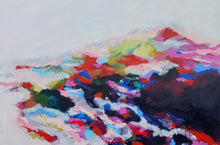Load image into Gallery viewer, Original painting Esther O'Kelly Stay on My Shore. A large colourful abstract based off irish landscapes