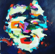 Load image into Gallery viewer, Original painting Esther O'Kelly The People I Saw But Never Met. An abstract portrait based off irish landscapes