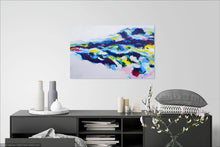 Load image into Gallery viewer, Original painting Esther O'Kelly Unmoored. a colourful abstract painting based off irish landscapes