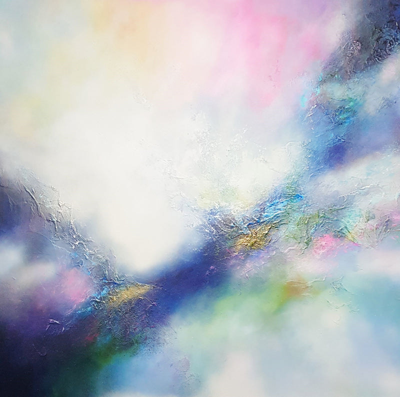 Original painting ciara gilmore titled Evolution. Pastel abstract contemporary artwork