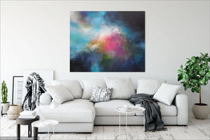 Original abstract painting by ciara gilmore titled Evolution