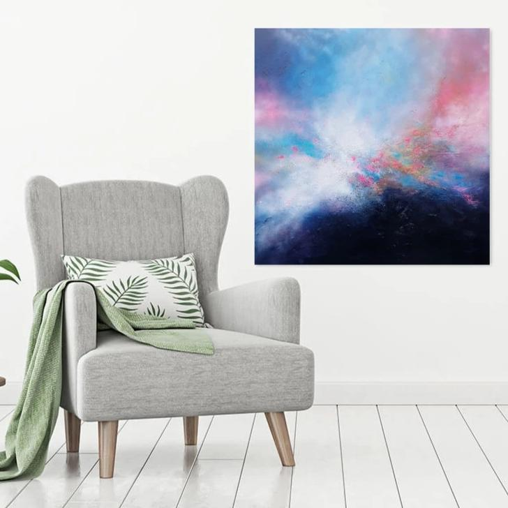 Original abstract painting by ciara gilmore titled sky symphony