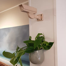 Load image into Gallery viewer, Patrick Colhoun original ceramic sculpture Always Watching Over You cream. cream ceramic sculpture of a CCTV camera