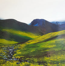 Load image into Gallery viewer, Stephanie Noble original oil on canvas Cloaked Majesty. Mourne Mountains Co. Down