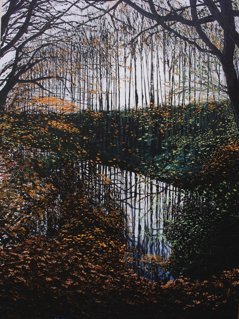 Stephanie Noble original oil on canvas Long Walks on Short Days, Belvoir Park Belfast