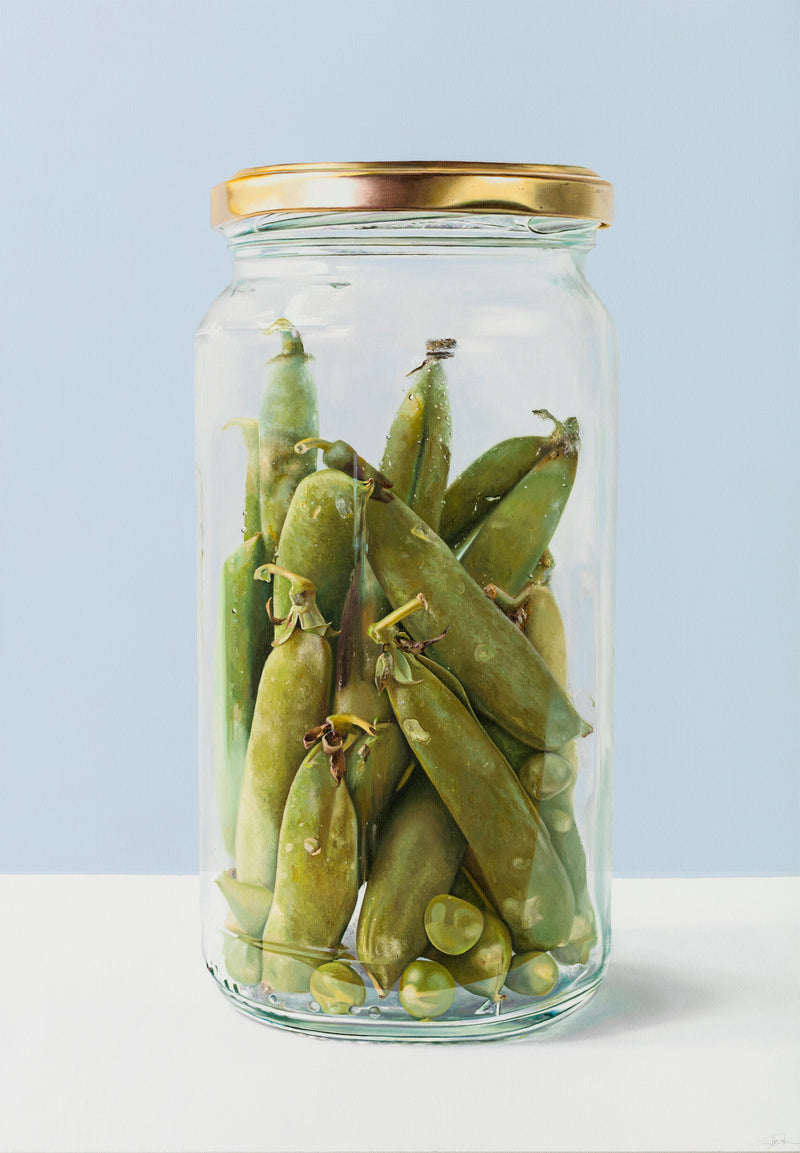 Peas and Pods in Jar