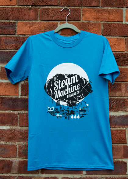 Blue Steam Machine Brewing Co. T-shirt