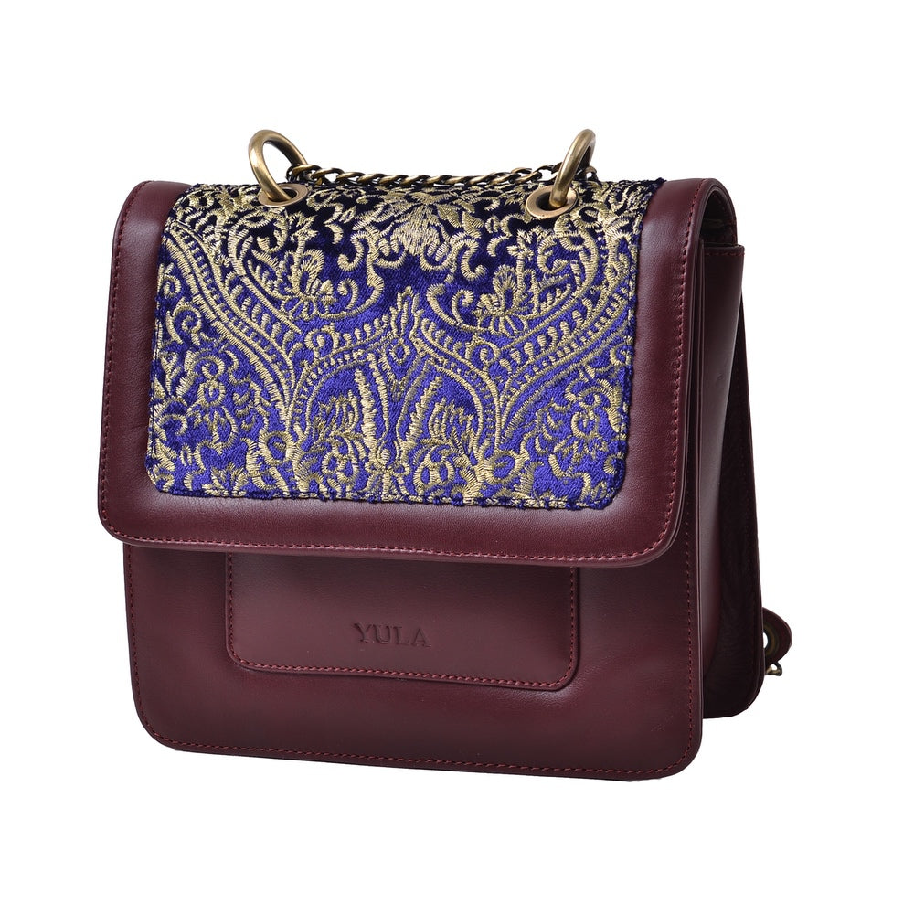 1919 Nelia Medium Shoulder Bag - Burgundy & Purple