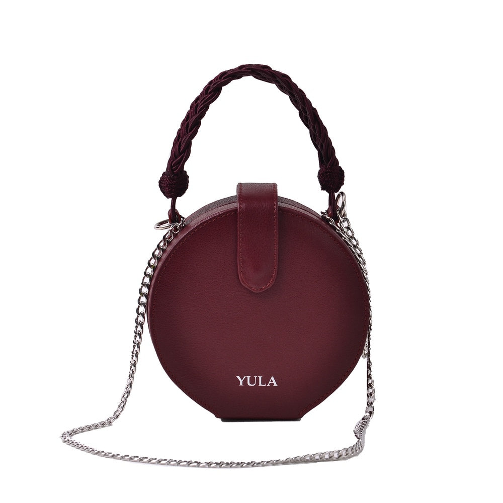 1928 Dara Round Bag - Burgundy